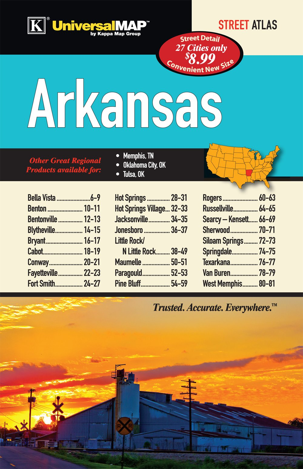 Interstate 69 Arkansas Map.Arkansas State Cities And Towns Kappa Map Group 9780762576418