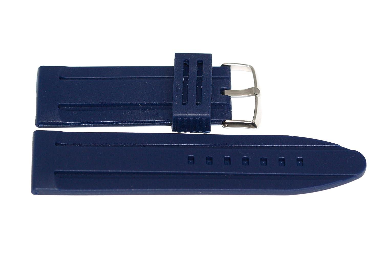 20 mmブルーソフトラバーシリコンスポーツダイバー腕時計ストラップバンド  B07537PLY1