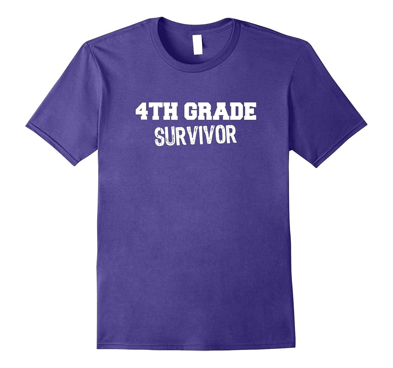 4th Fourth Grade Survivor T-Shirt-Vaci