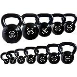 Body Revolution Kettlebells - Cast Iron Kettlebell for Strength and Cardio Training - Kettle Bells Available as Singles or Full Set - 2kg - 28kg