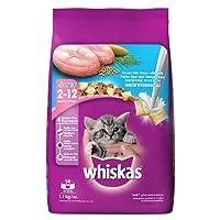 Whiskas Dry Cat Food, Junior Ocean Fish for Kittens, 1.1 kg