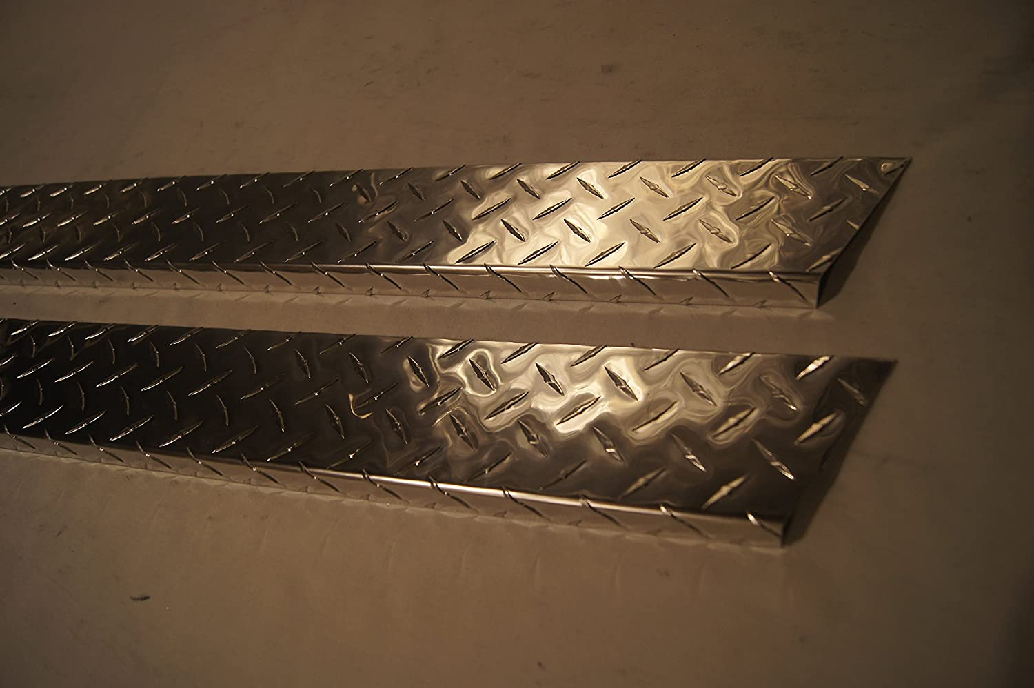 Jeep Diamond Plate 2004-2006 LJ Wrangler Unlimited Black Off-Road 5 3//4 Rocker Panel Covers with Cut Outs