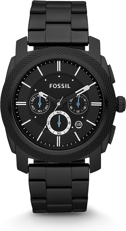 Fossil Reloj Cronógrafo para Hombre de Cuarzo con Correa en Acero Inoxidable FS4552