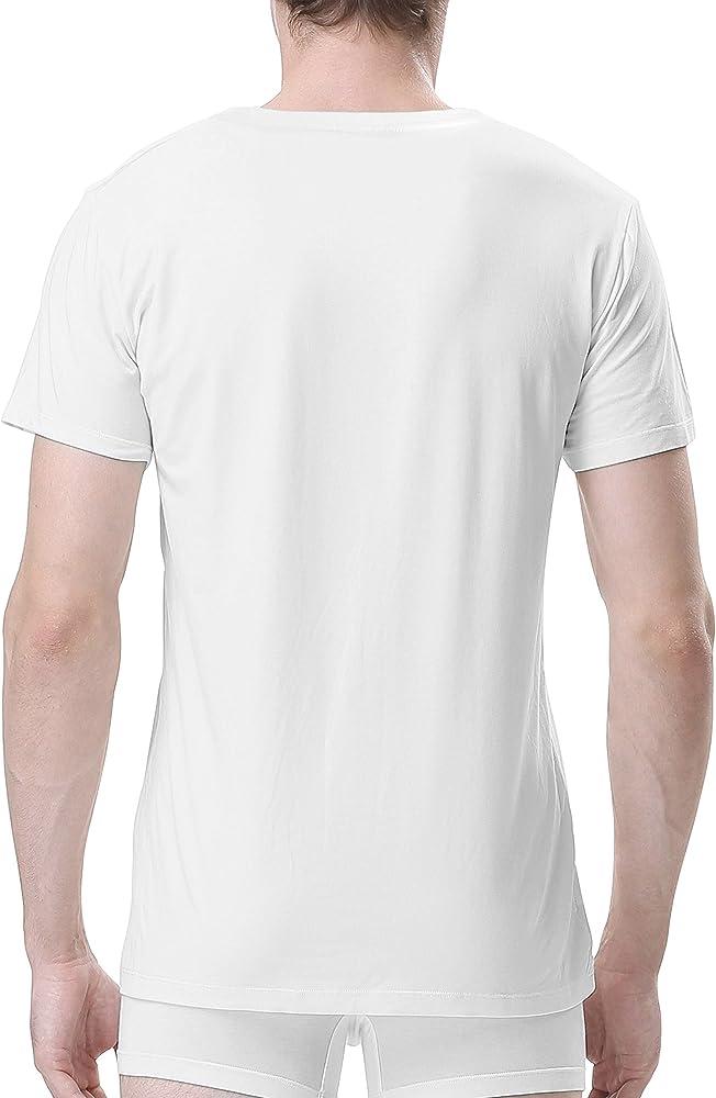 Genuwin 3 Pack Camisetas Hombre Manga Corta de Cuello Redondo con ...