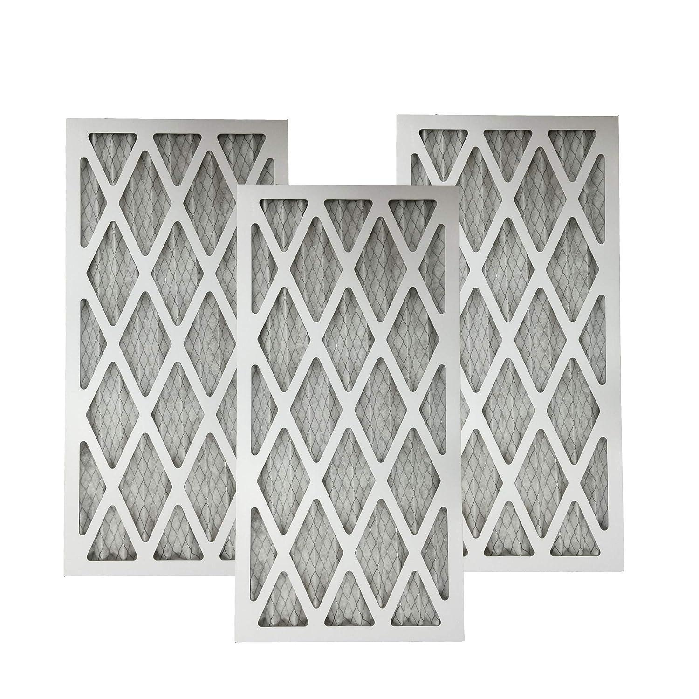 3 MERV 11 Allergen Air Furnace Filters 16x25x1 Crucial Air