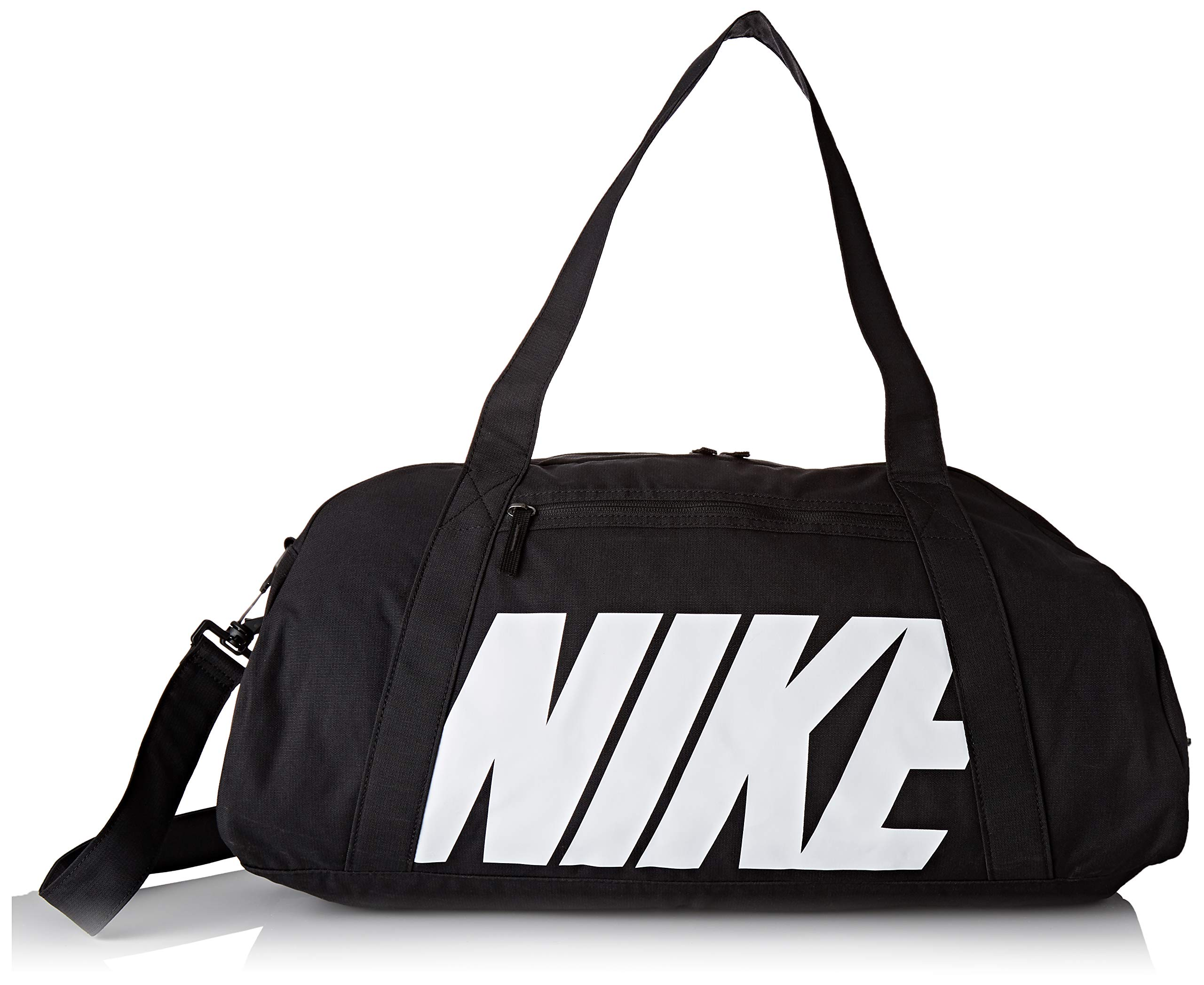 0b10b5bbbfc4 NIKE Women's Gym Club Duffel Bag, Black/Black/White, One Size
