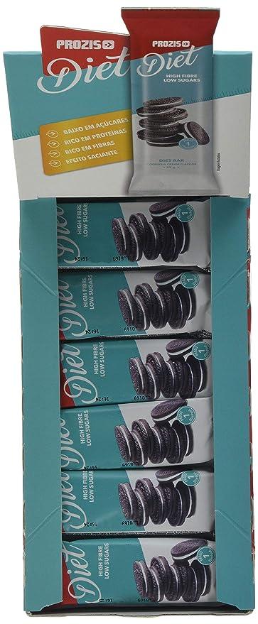 Prozis Diet Bar 12x35g - Delicioso Aperitivo Galletas y Crema - Rico en Proteína y Bajo