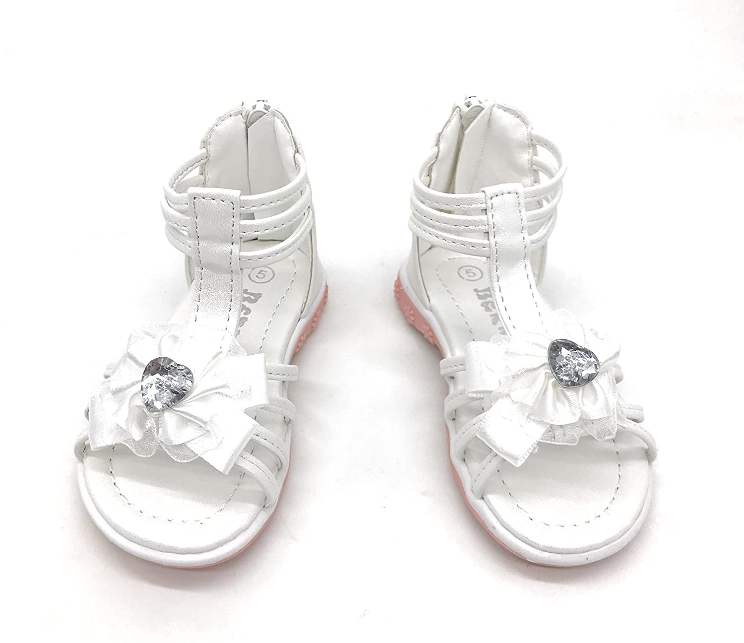 Blue Berry EASY21 Infant Baby/&Toddler Girl Open Toe Gladiator Zip up Sandals