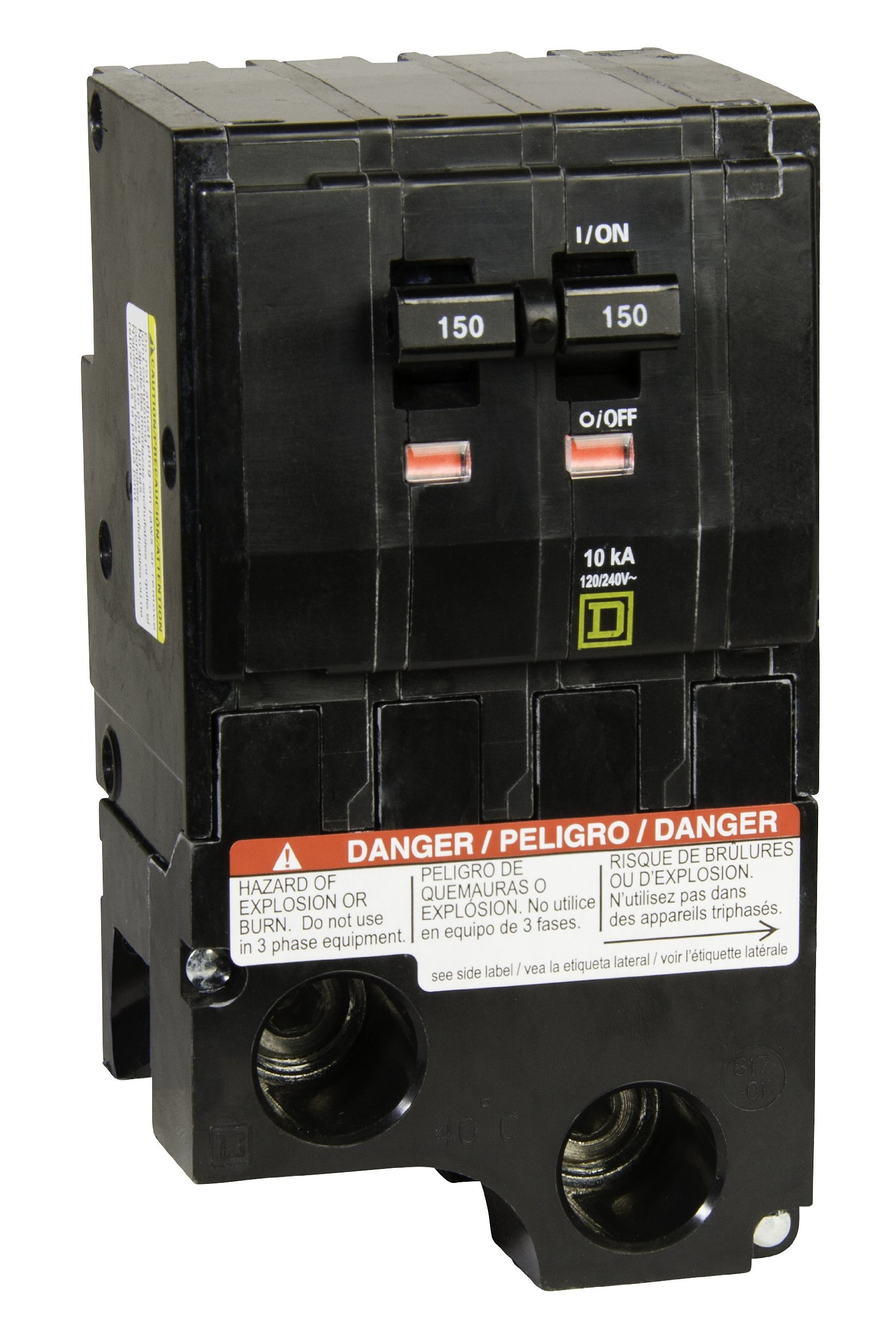 Square D by Schneider Electric QO2150 150-Amp Two-Pole Circuit Breaker by Square D by Schneider Electric