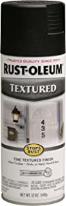 Rust-Oleum 7220830 Textured Spray Paint, 12 oz, Black