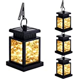 JHBOX Solar Outdoor Lanterns 30 LEDs, Halloween Decorations Lights Waterproof for Garden Patio Lawn Deck Table Umbrella Pathw