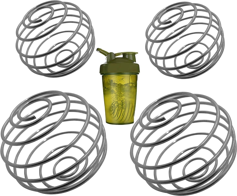IXIGER Small whisk,Blender ball,4pcs whisk,Milkshake Protein Shaker Ball Wire Whisk Shaker Mixer Ball Bottle Cup Blender Mixing Blend Shaker Bottle