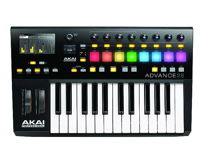 Akai Professional Advance 25 - Controlador USB/MIDI de teclado con X/Y pad: Amazon.es: Instrumentos musicales