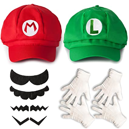 6e4cbb59c86 Buy Katara Super Mario and Luigi Caps - Unisex Costume Set for Adults Or  Children (One Size) Video Games Characters Cosplay Online at Low Prices in  India ...
