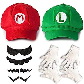 Katara Juego de Disfraces Super Mario Bros Niños Adultos - Gorra Roja 52d81d41be6