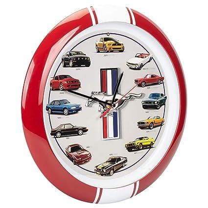 Amazon.com: Mark Feldstein & Associates History of Mustang Sound Clock, 13