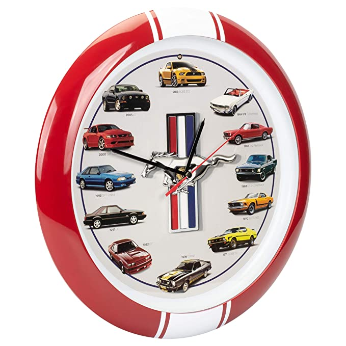 Amazon.com: Mark Feldstein & Associates History of Mustang Sound Clock, 13