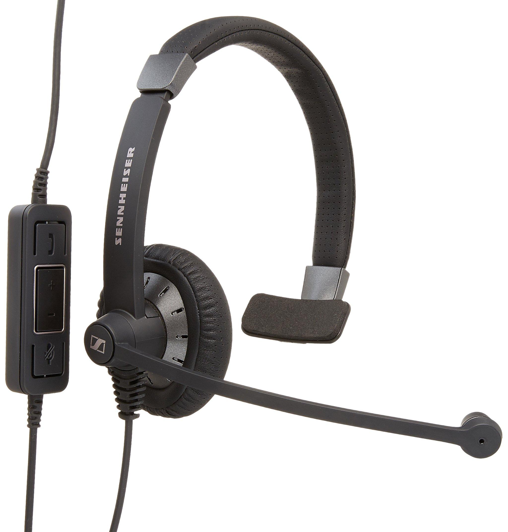 Sennehsier Culture Plus SC 40 USB MS Wired Single- Sided Headset, Certified for Skype for Business