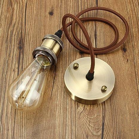 Leuchtmittel nicht inklusiv KINGSO E27 Hängelampe Kupfer