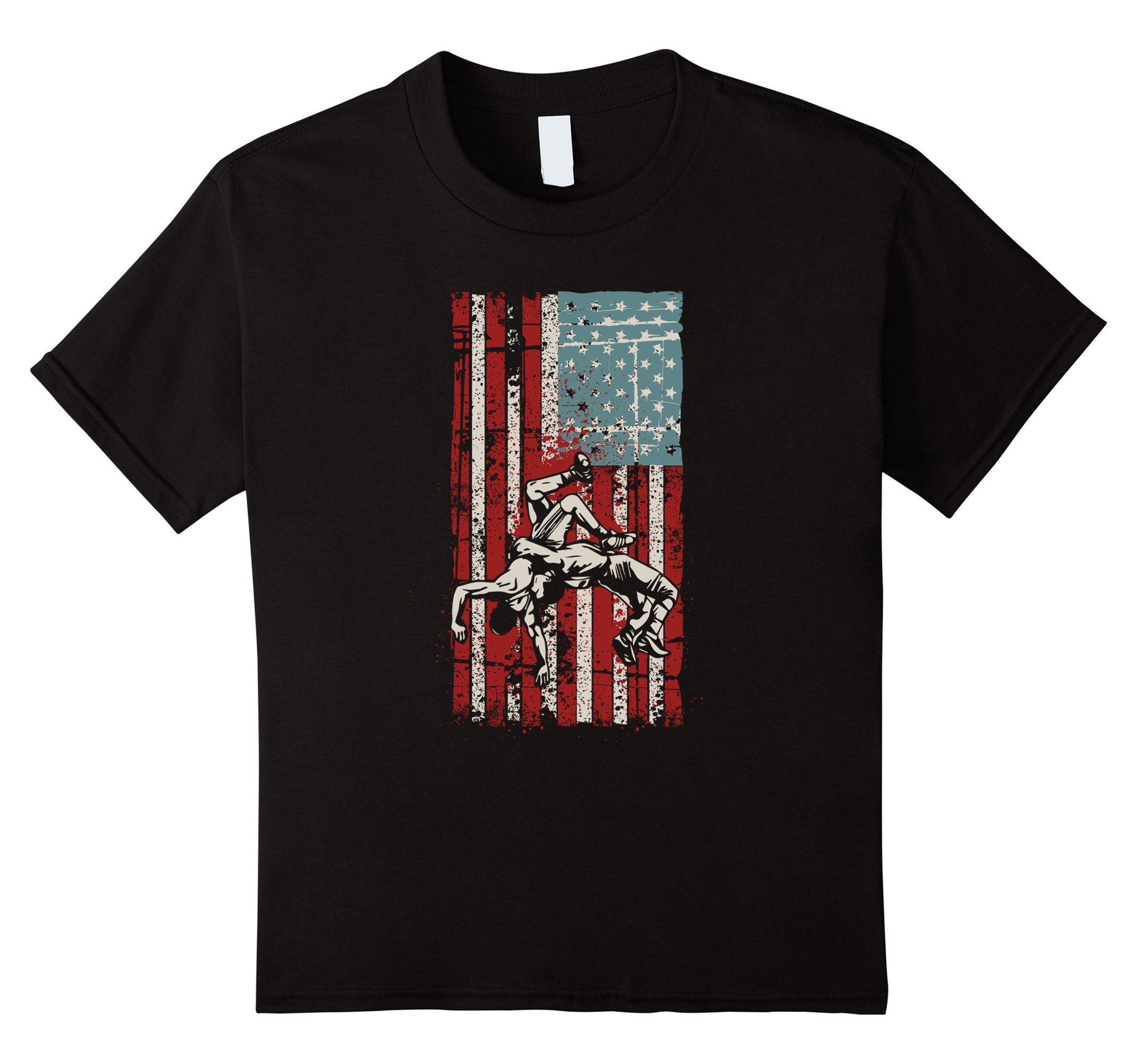 Kids Wrestling T-Shirt for Men Boys and Teens Wrestling Gifts 12 Black