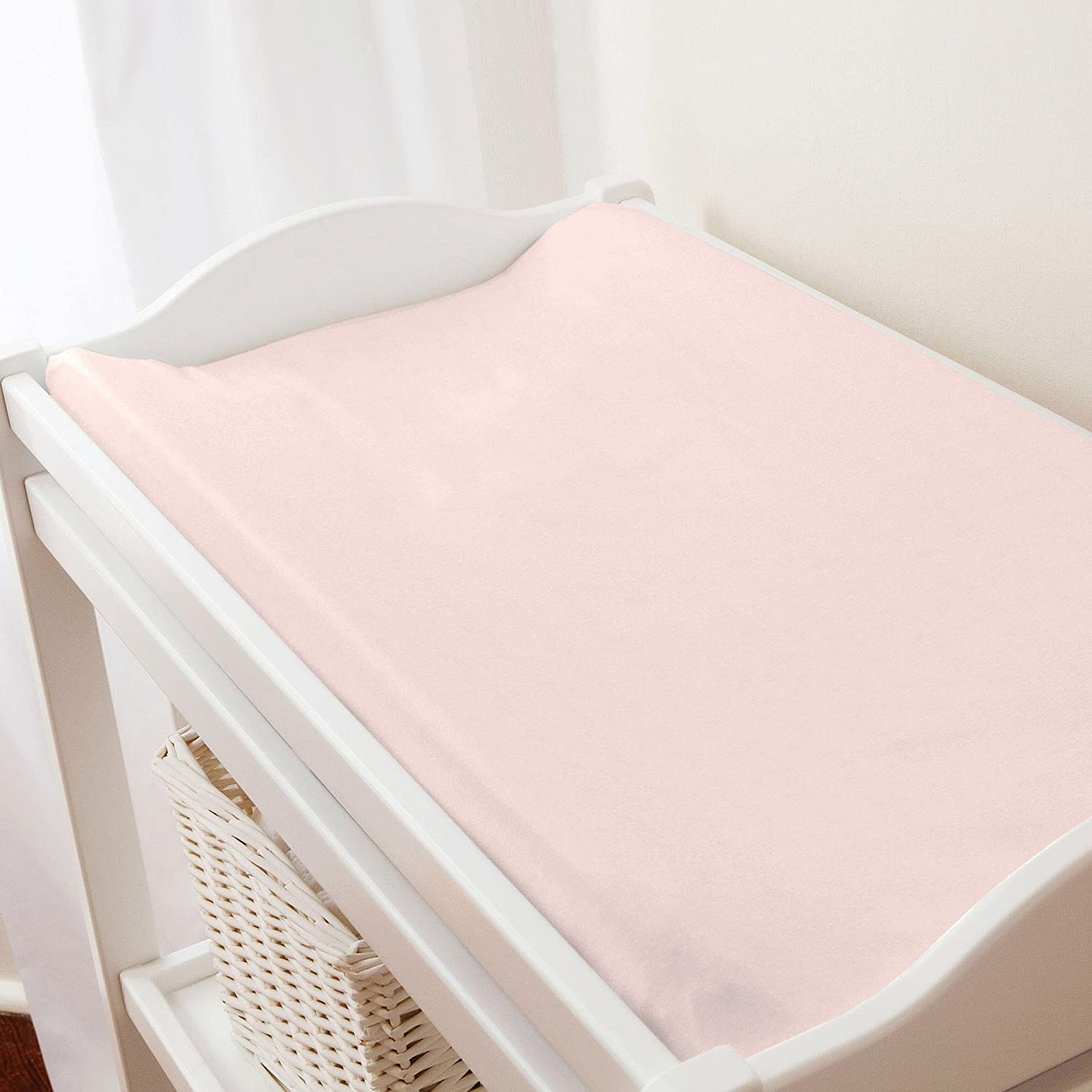 Carousel Designs Solid Pale Pink Changing Pad Cover by Carousel Designs