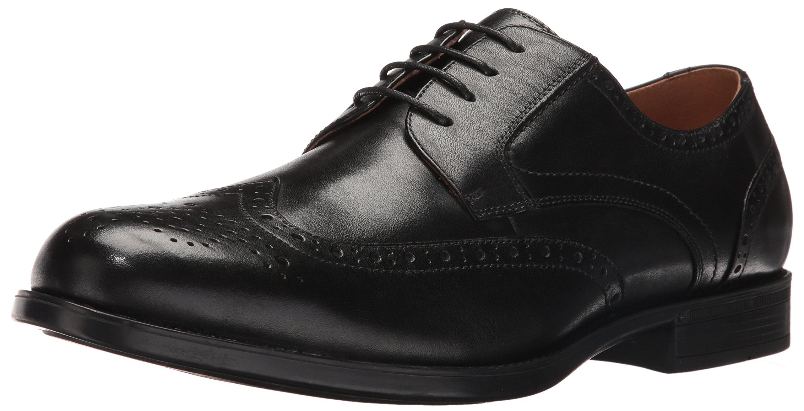 Florsheim Men's Medfield Wingtip Oxford Dress Shoe, Black, 9.5 D US