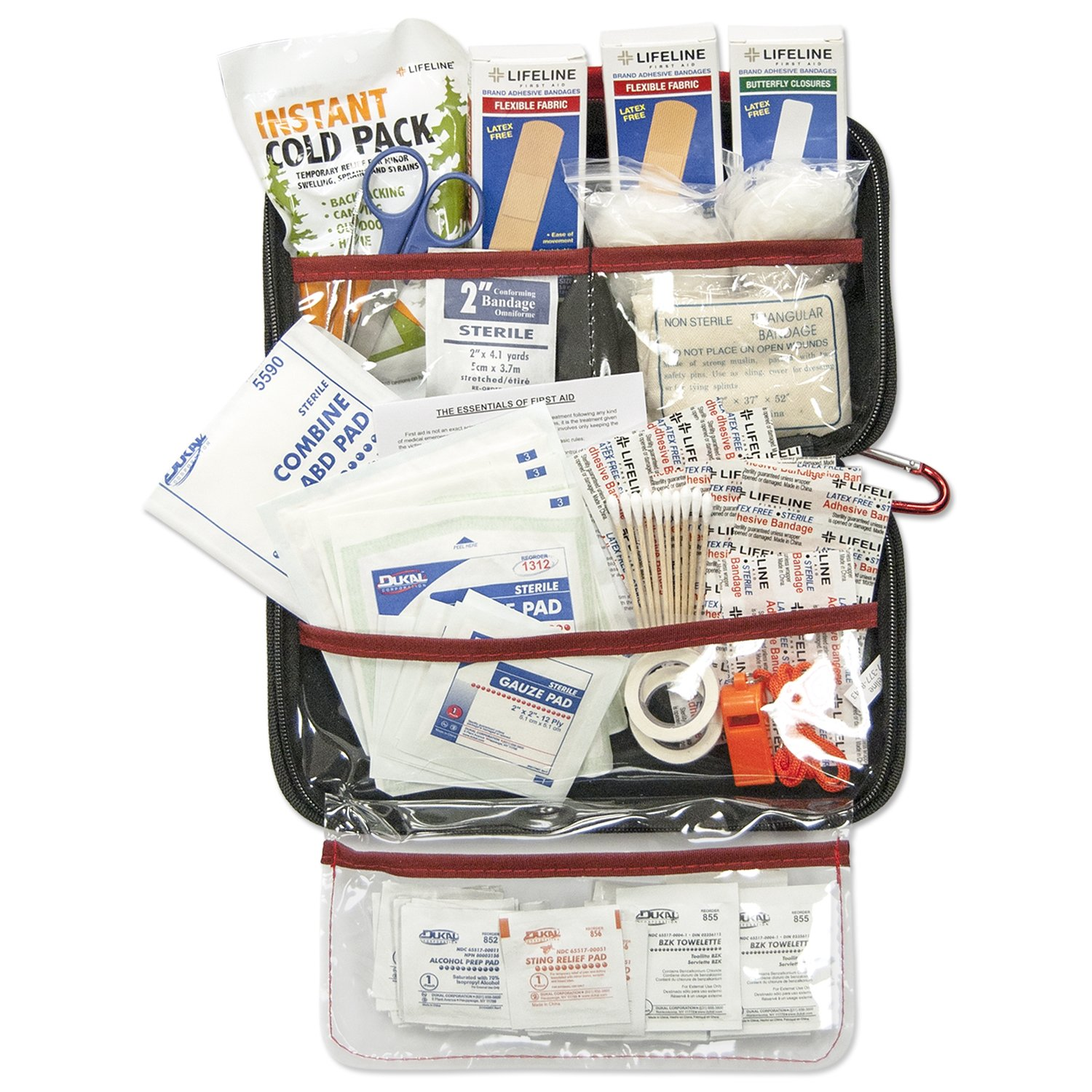 Lifeline AAA 4180AAA 121-Piece Road Trip First Aid Kit