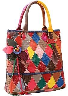 On Clearance Heshe Womens Multi-color Shoulder Bag Hobo Tote Handbag Cross  Body Purse b33dd109187f5