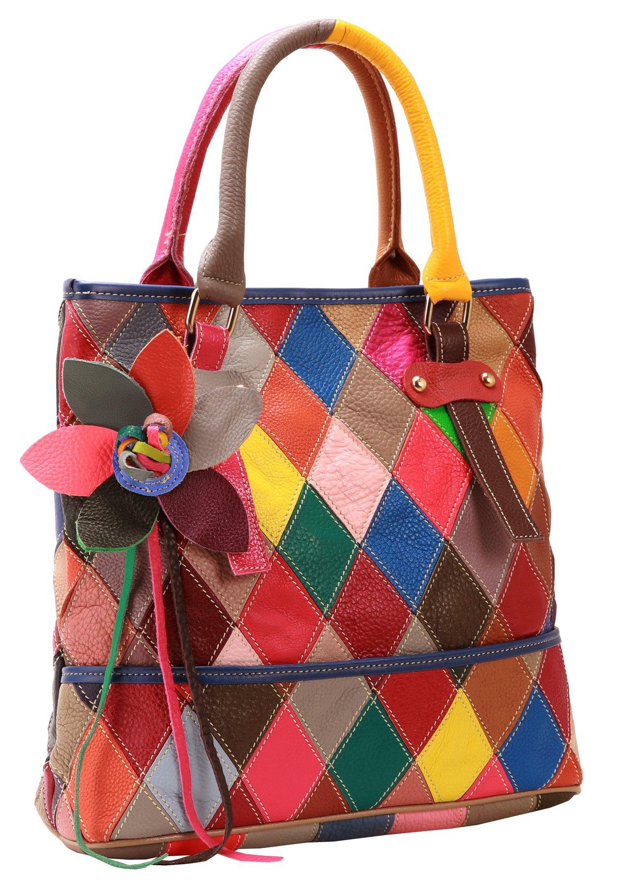On Clearance Heshe Womens Multi-color Shoulder Bag Hobo Tote Handbag Cross Body Purse (Colorful-2B4009)