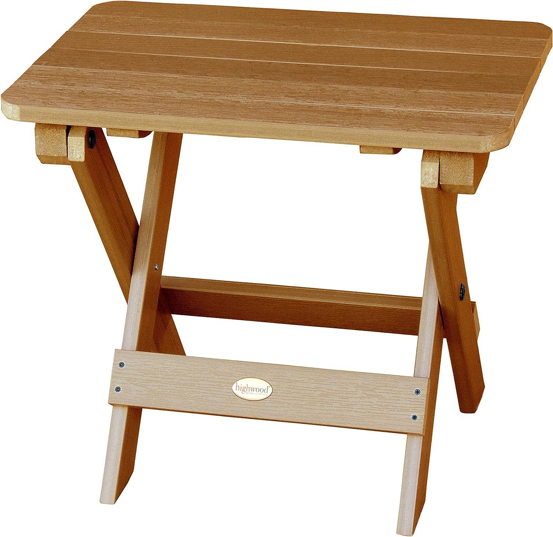 Highwood Folding Adirondack Side Table, Toffee