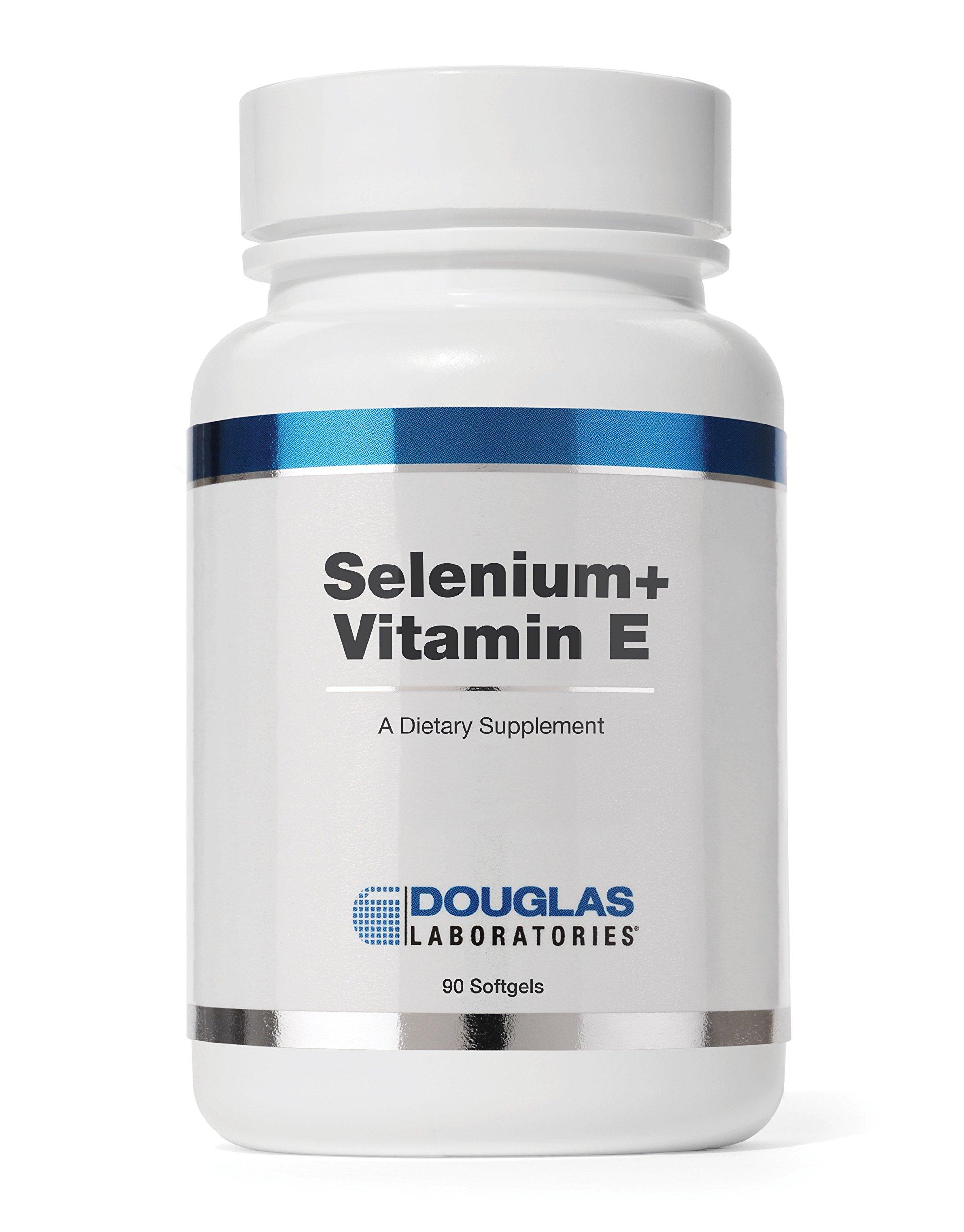 Douglas Laboratories - Selenium + Vitamin E - 400 I.U. of Natural Form of Vitamin E and 50 mcg. of Selenium - 90 Softgels