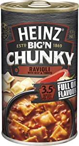 Heinz Big 'N Chunky Ravioli with Beef and Tomato Canned Soup, 535g