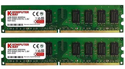 Komputerbay Kb 8gbddr2 2x4gb800 Módulos De Memoria 8gb 2x4gb Ddr2 Dimm 240 Pines 800mhz Pc2 6400 Pc2 6300 Cl5
