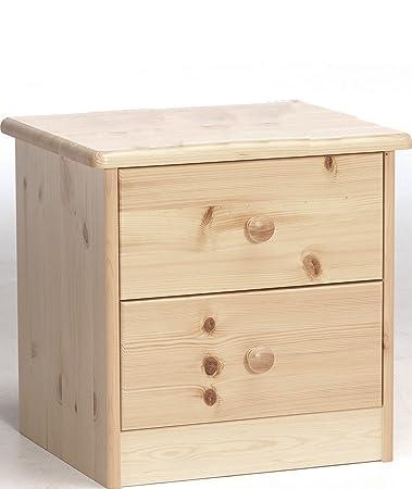 Erst-Holz® 90.20-K02 Ela Nachttisch Nachtschränkchen Kiefer massiv 2 ...