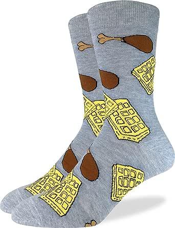 Good Luck Sock Men's Extra Large Chicken & Waffles Socks, Size 13-17 Big & Tall