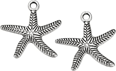 New Mixed Lots Sea Star Flower Glass Charm Jewelry Crafts Chain Pendant Necklace
