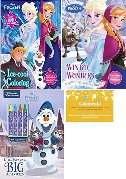 Amazon.com: Parragon Disney Frozen Coloring Book Bundle ...