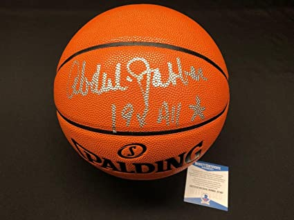 "b59f3506839 Kareem Abdul-Jabbar Signed NBA Replica Game Basketball""19x All  Star"" BAS -"