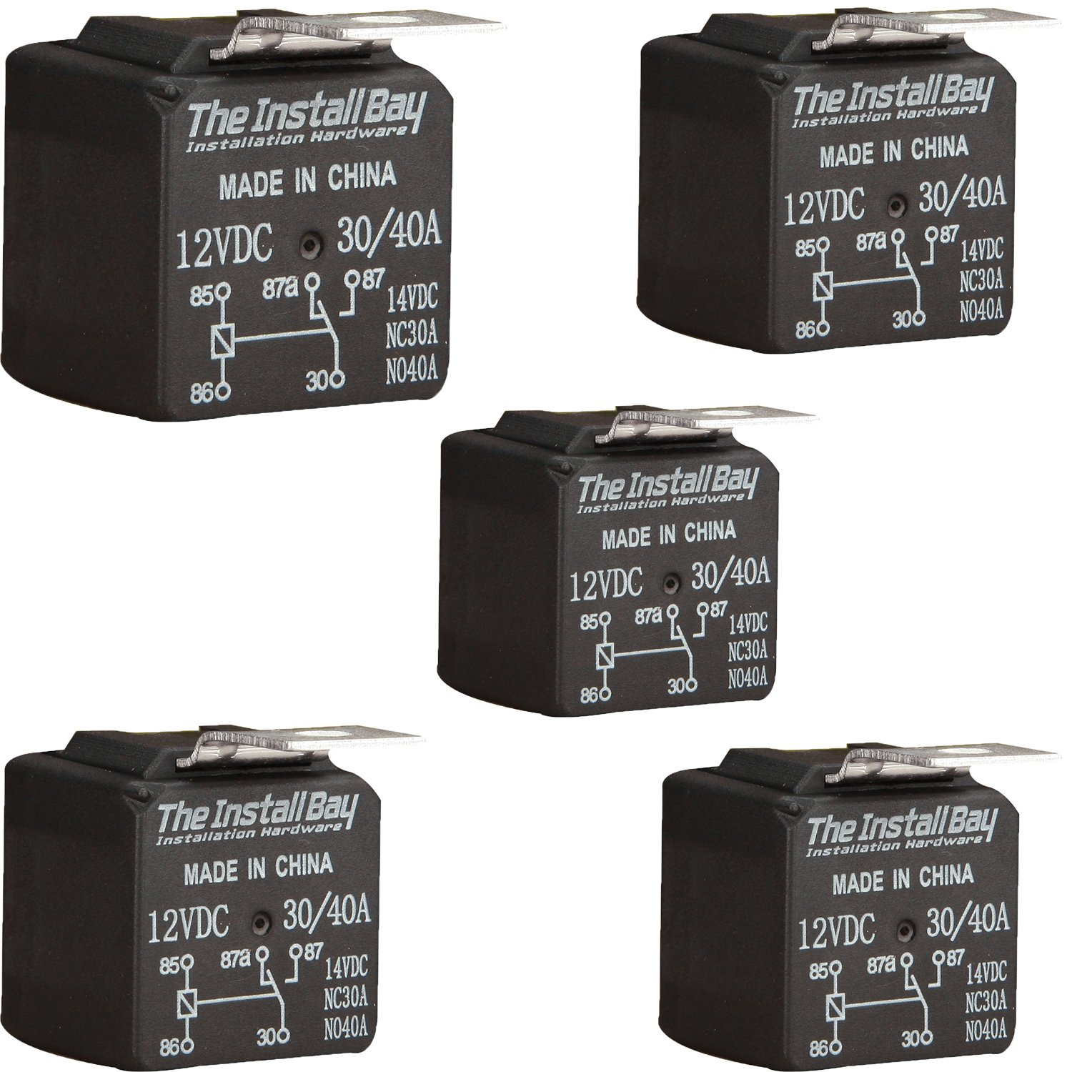 The Install Bay by Metra RL3040 Economy 12 Volt 30/40 Amp Relay (5/Pack) 12V 5 X RL3040