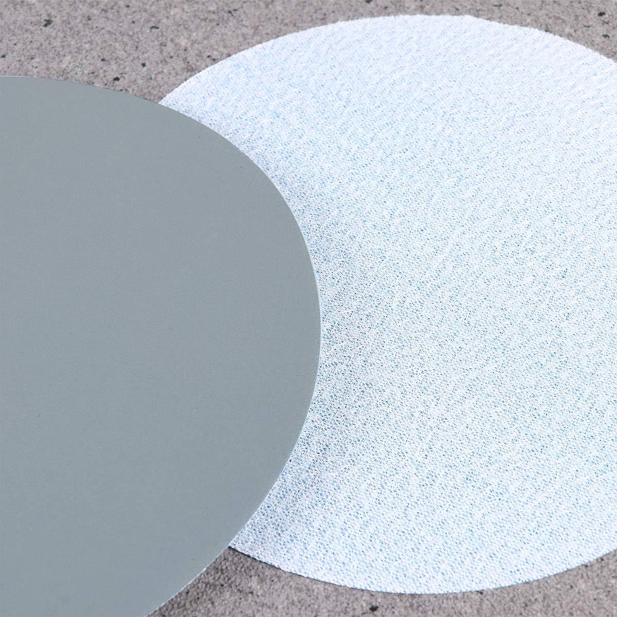 15*rouge+10*gris UEETEK 25PCS Disques de pon/çage ronds Papier de Verre Ponceuse Papier Abrasif 1000//1500//2000//2500//3500