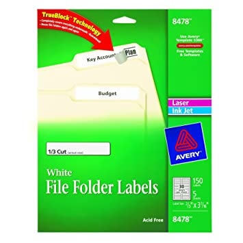 Amazon.com : Avery File Folder Labels for Laser and Inkjet ...