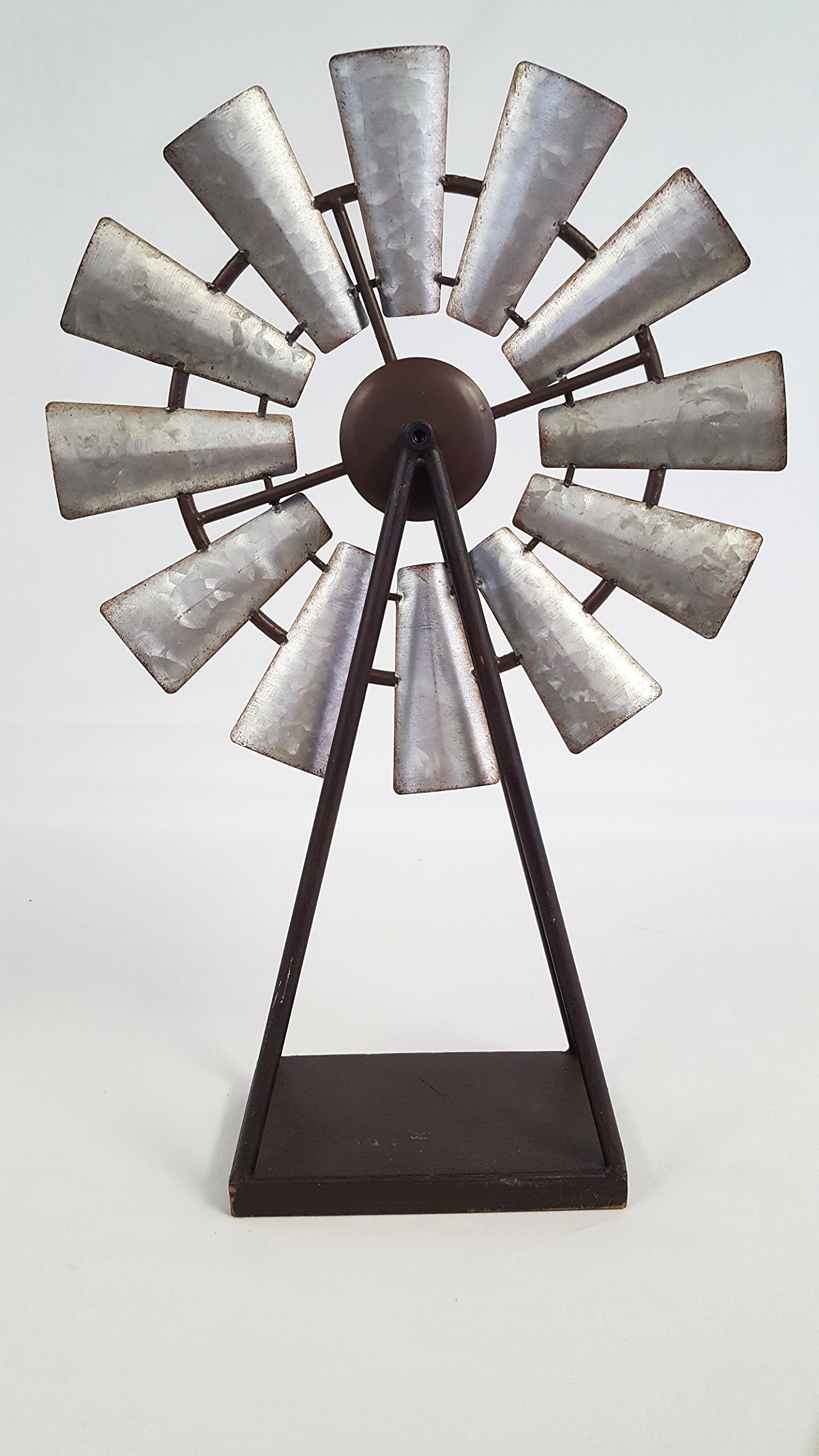 Large Standing and Spinning Windmill Metal Decor by Everydecor (Image #1)