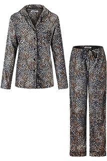 HUE Womens Fleece Pajama Bottoms Pants Silver Filigree S