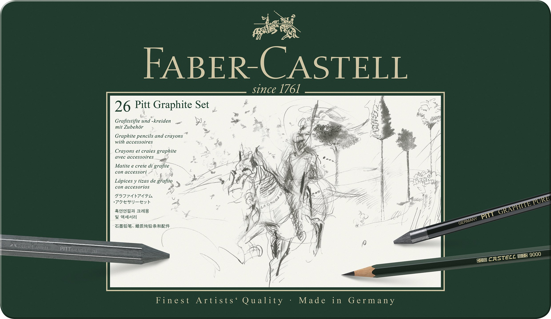 Faber-Castel 26 Piece Pitt Graphite Tin Set by Faber Castell (Image #1)