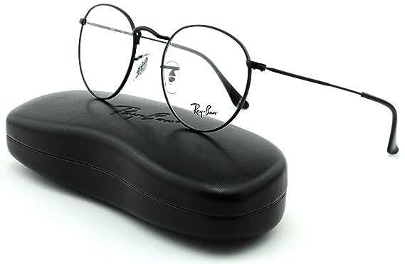 d2ad519095d Ray-Ban RX3447V Unisex Metal Round Eyeglasses (Matte Black Frame 2503