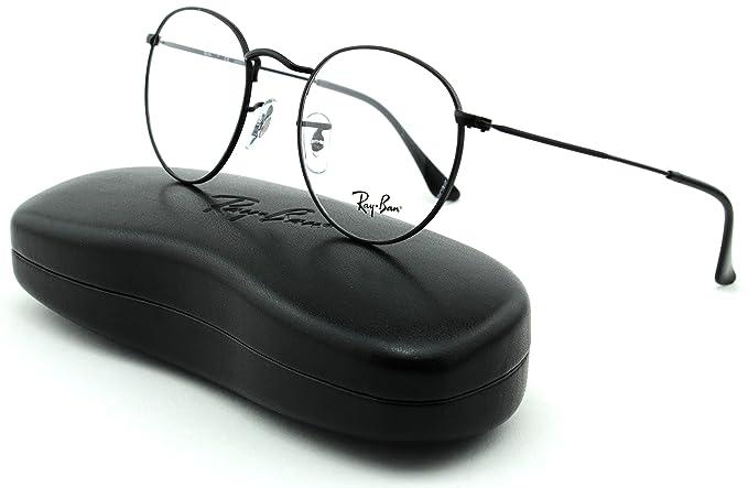 bc5f3f8ba14d40 Ray-Ban RX3447V Unisex Metal Round Eyeglasses (Matte Black Frame 2503, 50)