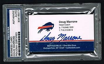 Doug Marrone Signed Autograph Auto Business Card Buffalo Bills Coach