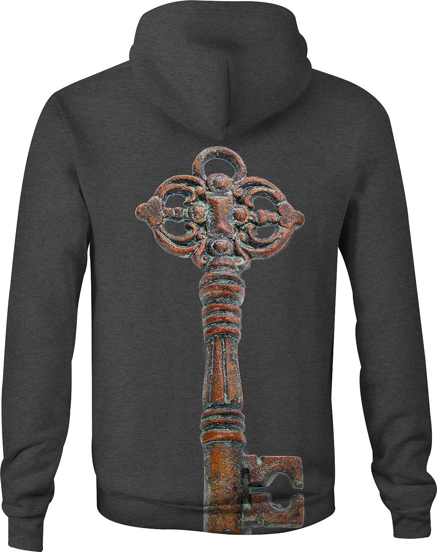 Zip Up Hoodie Antique Skeleton Key Hooded Sweatshirt for Men