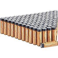 Amazon Basics - Pilas alcalinas AA de 1,5 voltios, gama Performance, paquete de 100 (el aspecto puede variar)