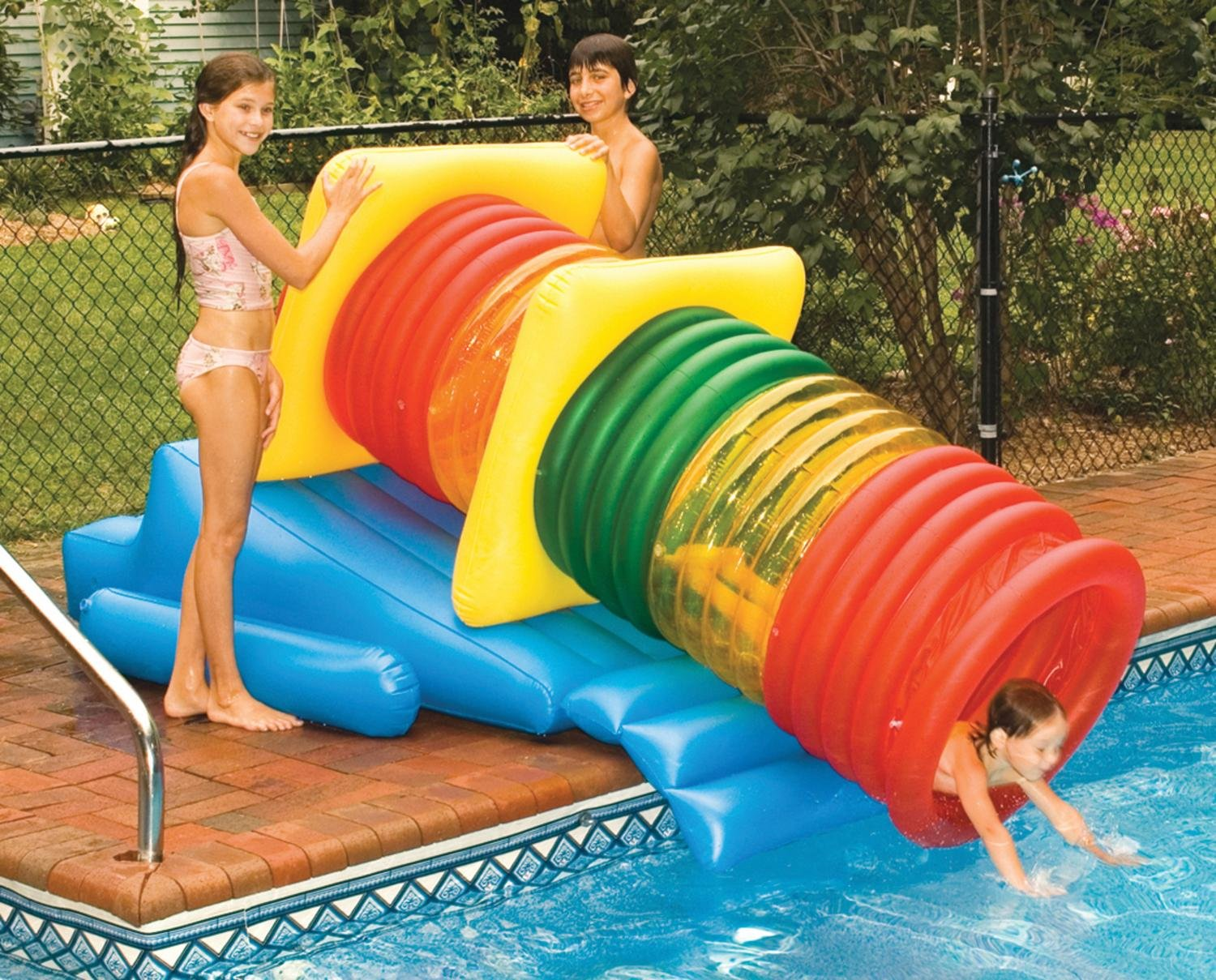 Water Sports Deluxe Swimming Pool Inflatable Water Park Slide Maze Play System by Swim Central (Image #1)